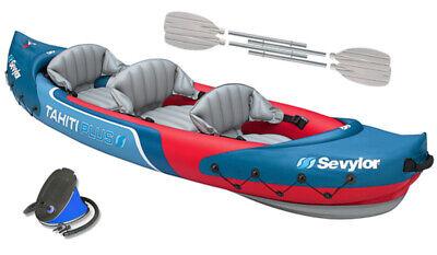 Sevylor Tahiti Plus Kayak Kit with Paddles & Foot Pump Set Inflatable Sea River