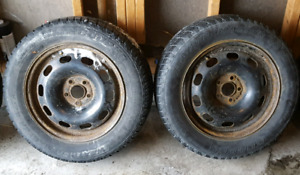 2 COOPER WEATHER-MASTER S/T2 195/65R15 on 5 bolt rim. Both $10.