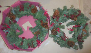 Lots and lots of fake green Christmas wreaths $ 5-$ 10 Kitchener / Waterloo Kitchener Area image 3