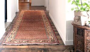 Coral vintage persian runner rug