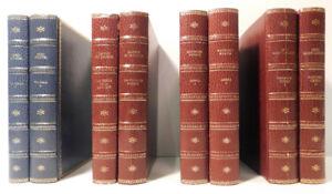 Lot de 8 livres décoratifs