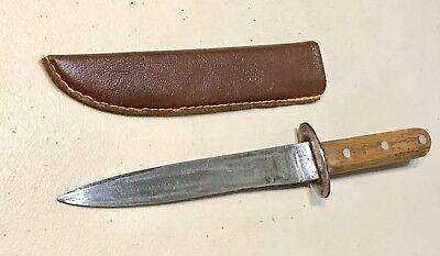 Genuine WW1 WW2 Italian Fascist Fighting Boot/Trench Dagger Knife W/Sheath