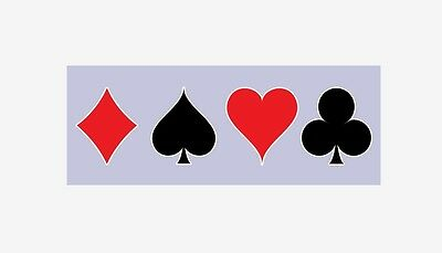Playing cards suit sticker vinyl decal window static cling wall decal