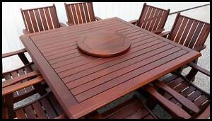 OUTDOOR FURNITURE SALE! - Quality 9 PCE Kwila dining setting Brisbane City Brisbane North West Preview