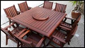 OUTDOOR FURNITURE SALE! - Quality 9 PCE Kwila dining setting Melbourne CBD Melbourne City Preview