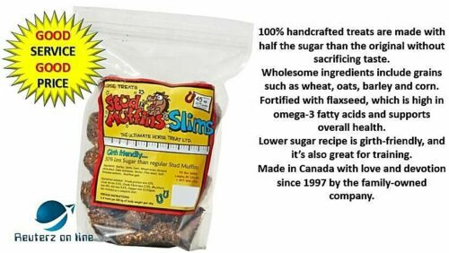 Stud Muffins Slims 50% Less Sugar Molasses Horse Treats Free Shipping Sale