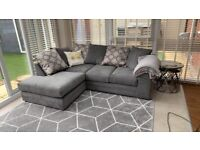 BRAND NEW PLUSH VELVET L SHAPED SOFA AVAILABLE IN DIFFERENT COLOURS