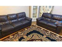 Leather sofa 2+3 Seater