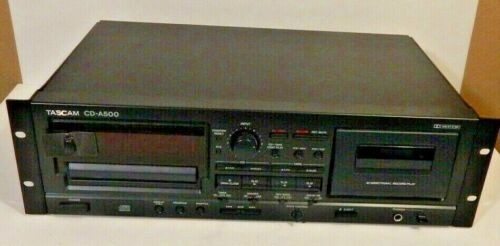 TASCAM CD-A500 Combination CD Player and Cassette Player/Recorder, Rackmount