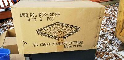 6 Box Of25 Compartment Standard Extender Kcs-gr25e Restaurant Supply Dishwasher