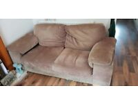 2 Seater Brown Sofa - FREE
