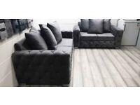 ✨✨ JUMBO SALE ✨✨ ON NEW ASHTON CHESTERFIELD PLUSH VELVET CORNER SOFA OR 3+2 SOFA SET IN STOCK