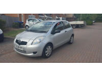 2008 TOYOTA YARIS 1.0 VVT-i T2 3DR, 12 MONTHS MOT, 2 OWNERS, ONLY 72K GUARENTEED MILAGE