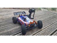 Rc petrol car optimus gp 1/8 scale 4x4 buggy