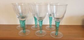 6 x Denby Greenwich Red Wine Glasses. New but unboxed