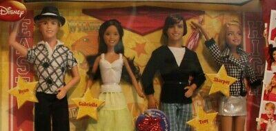 Disney set of 4 Ryan,Gabriella,Troy,Sharpay High school musical 3 dolls 2008