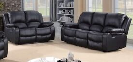 BRAND NEW SCS RECLINER 3+2 SOFA IN BLACK OR CHOCLATE BROWN + DELIVERY