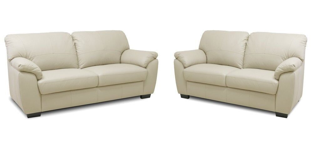 Dfs Cream Leather Sofas 3 2 Seater