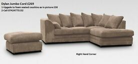 BRAND NEW DYLAN JUMBO CORNER & 3+2 SEATER AVAILABLE IN DIFFERENT COLOURS**EXPRESS DELIVERY
