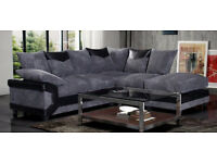 Dino jumbo cord fabric sofas / 3+2 seater sofa set or corner sofa /in grey/black or beige/brown