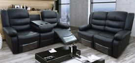 BRAND NEW LEATHER 3+2 RECLINER £499 | ALL COLOURS
