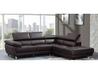 REAL LEATHER CORNER SOFA BRAND NEW RRP £1500