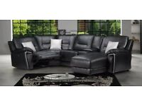 Sofa Suite Leather Corner Recliner
