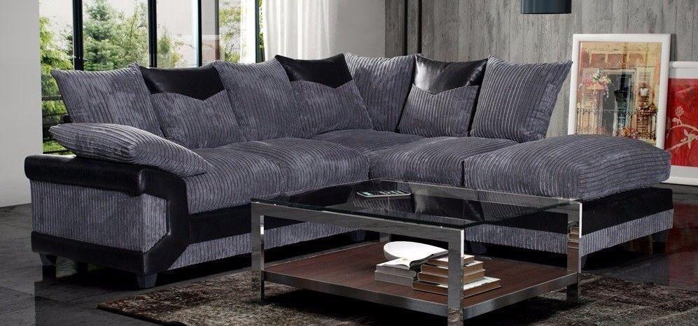 Dino Jumbo Cord Fabric Sofas / 3+2 Seater Sofa Set Or Corner Sofa /