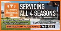 C.J's Property Maintenance Fall aeration Clean Up & More