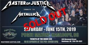 Wanted: One ticket to Masters of Justice June 15 Pogue Mahones
