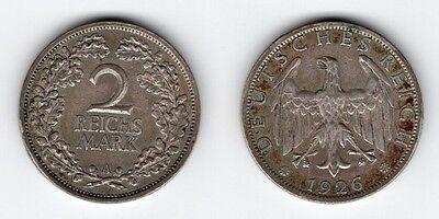 2 Reichsmark 1926 A
