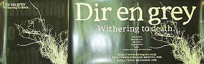 DIR EN GREY Withering To Death, orig promotional poster, 2006, 12x36, VG+, goth