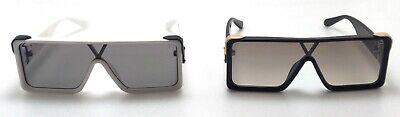 Runway Black White Fram Sunglasses For Man Rectangular Shape Millionaire (Millionaire Glasses)