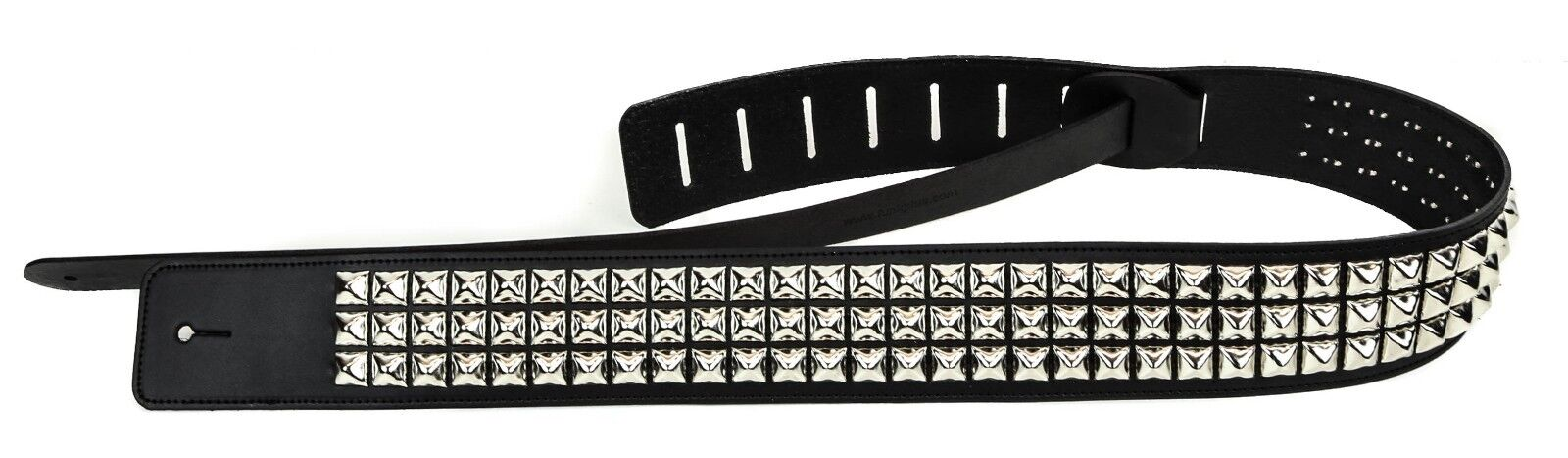 Studded Punk Rock Guitar Strap Genuine Leather Punk Goth Met