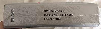 HEWLETT PACKARD 54504A/E01 DIGITIZING OSCILLOSCOPE USERS GUIDE-NEW-SEALED