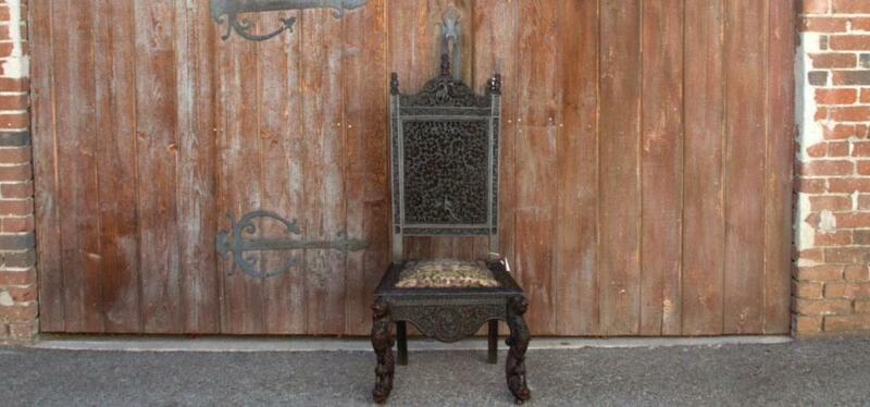 Rare Carved Anglo Indian Chair