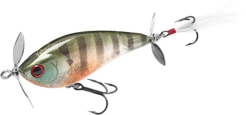 Bass /& Pike Fishing Lure Lucky Craft Kelly J 2 3//4 inch Topwater Prop Lure