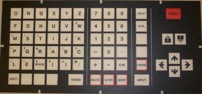 Hitachi Seiki Cnc Keypad Membrane Control Panel - Hs1010