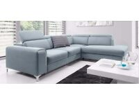 BARLETTA Delivery 1-10 days Corner Sofa Bed Leather or Fabric Brand New Bed Function and Storage