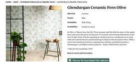 Tiles - Green fern National Trust Glendurgan Collection