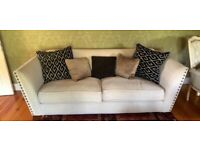 Bespoke 3 seater sofa with matching armchair