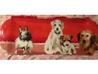 Large platter with dog design