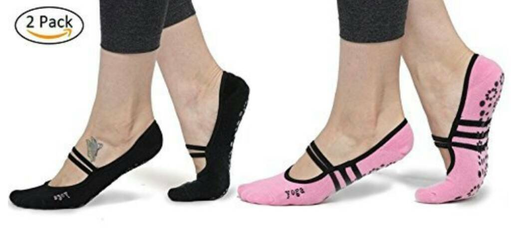 Yoga socks 2 pairs