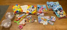6 filled party bags and 11 cupcake carry cases