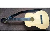 Burswood Acoustic Guitar with Soft Carry Case & Accessories.