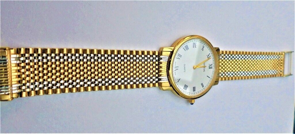 14CT SOLID GOLD SWISS MADE GENEVE GENT'S DRESS WATCH