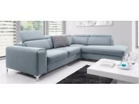 Delivery 1-10 days BARLETTA Corner Sofa Bed Sofa Leather Brand New Bed Function and Storage