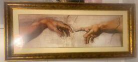 Michael Angelo and Reni custom framed art