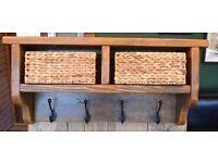 Coat Hanger Shelf - Medium Oak Colour