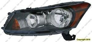 Head Light Driver Side Sedan Honda Accord 2008-2012